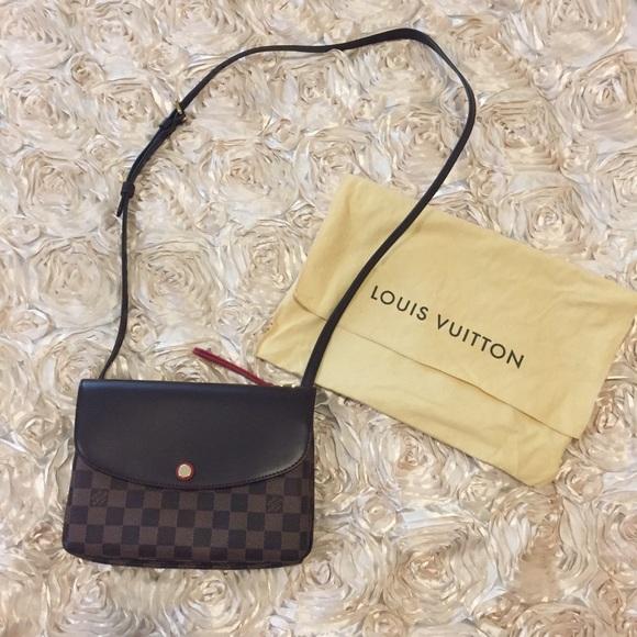46db02cfd Louis Vuitton Bags | Damier Ebene Twice Cerise Crossbody | Poshmark